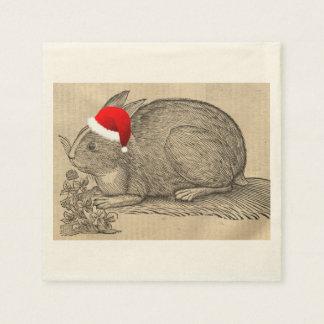 Holiday rabbit napkin