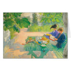 Holiday Reading by Carl Larsson Card