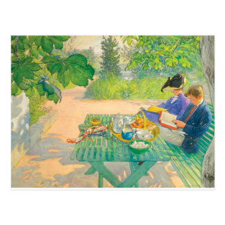 Holiday Reading by Carl Larsson Postcard
