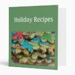 Holiday Recipe Album 3 Ring Binder