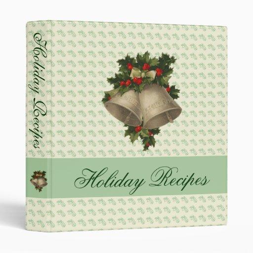"""Holiday Recipe Binder - 1"""" Binder"""