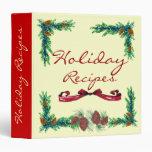 Holiday Recipes- binder