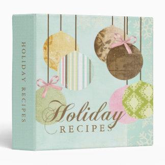 Holiday Recipes Vinyl Binder