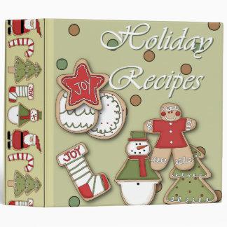 holiday recipes christmas cookies 3 ring binder