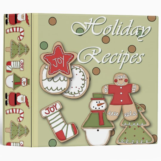 holiday recipes christmas cookies 3 ring binder