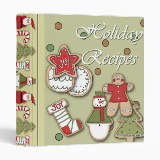 holiday recipes christmas cookies binder