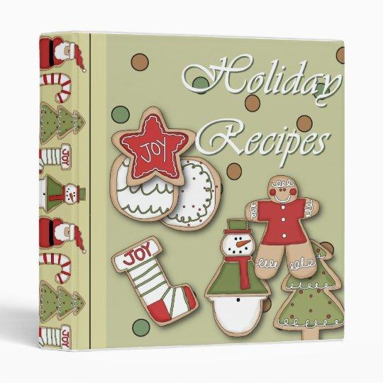 holiday recipes christmas cookies binder
