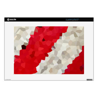 Holiday Red and White Candy Cane Mosaic Abstract Skins For Laptops