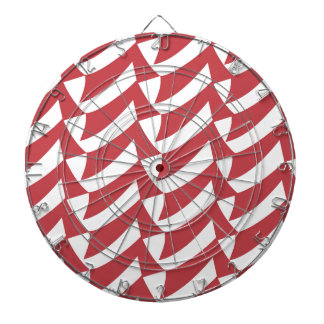 Holiday Red and White Checks Dartboards