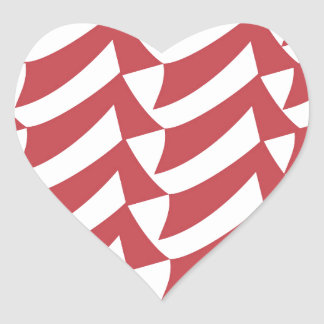 Holiday Red and White Checks Heart Sticker
