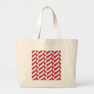 Holiday Red and White Checks Large Tote Bag