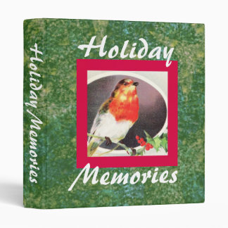 Holiday Red Bird binder
