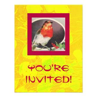 Holiday Red Bird Invitation
