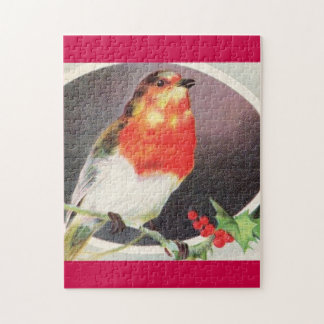 Holiday Red Bird Jigsaw Puzzle