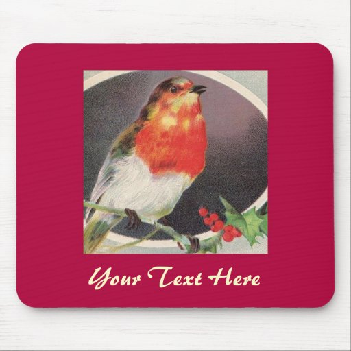 Holiday Red Bird mousepad