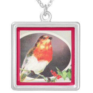 Holiday Red Bird necklace