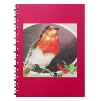 Holiday Red Bird Notebook