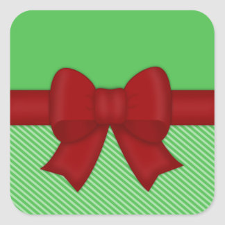 Holiday Red Bow Stickers