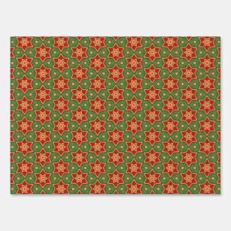 Holiday Red Green Stars Custom Home Gift Item 01 Yard Sign
