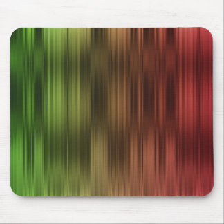 Holiday Red Green Stripes Mouse Pad