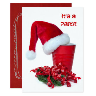 Holiday Red Party Cup and Cap Card