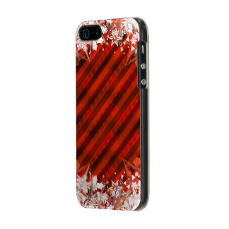 Holiday Red with White Snowflake - Custom Case Incipio Feather® Shine iPhone 5 Case