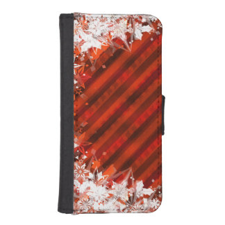 Holiday Red with White Snowflake - Custom Case Phone Wallet Cases