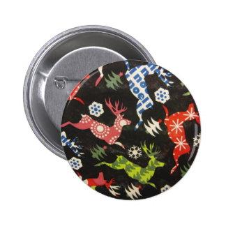 Holiday Reindeer 2 Inch Round Button