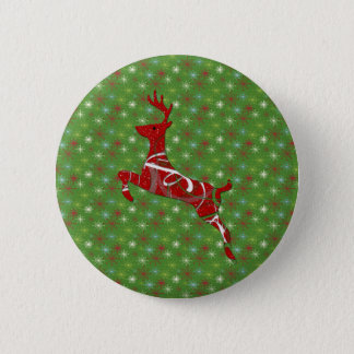 Holiday Reindeer Button