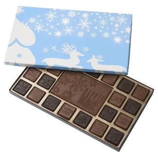 Holiday Reindeer in Blue Assorted Chocolates