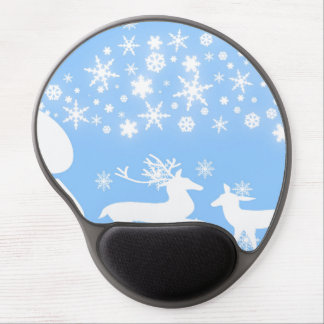 Holiday Reindeer in Blue Gel Mouse Pads