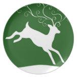 Holiday Reindeer Plate