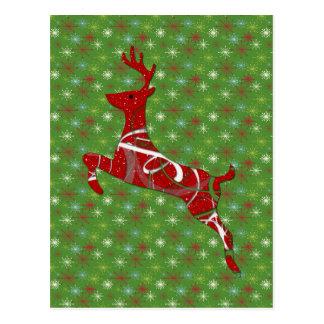 Holiday Reindeer Postcard