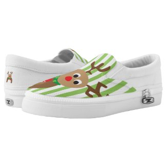 Holiday Reindeer Printed Shoes