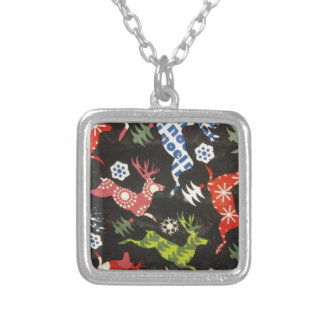Holiday Reindeer Silver Plated Necklace