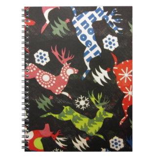 Holiday Reindeer Spiral Notebook