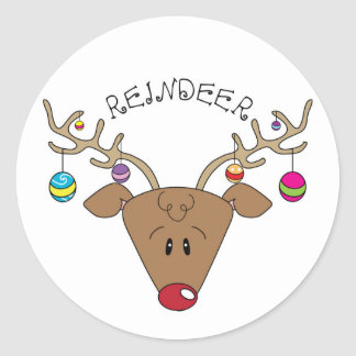 Holiday Reindeer Sticker