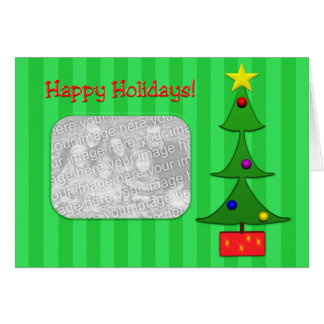 Holiday Retro Toon Tree Templete Card