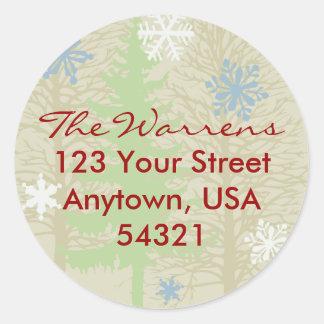 Holiday Return Address Label Template Sticker