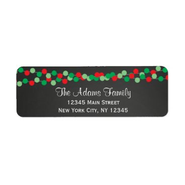 Christmas Themed Holiday Return Address Labels