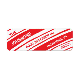 Holiday Return Address Labels: Candy Cane Label