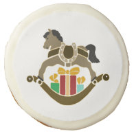 Holiday Rocking Horse Photo Cookie Sugar Cookie