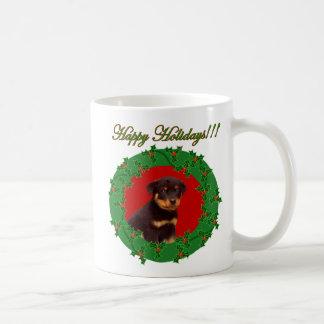 Holiday Rottweiler mug