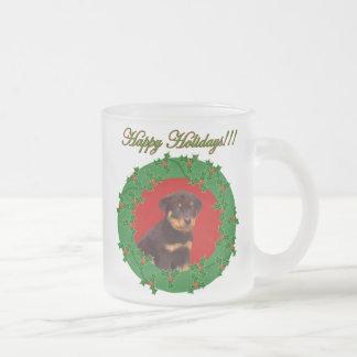 Holiday Rottweiler puppy mug