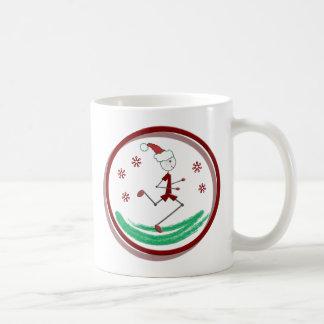 Holiday Runner Guy Coffee Mug