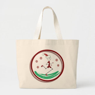 Holiday Runner Guy Large Tote Bag