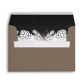 Holiday Rustic Pine and Chalkboard Envelope