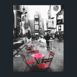 """HOLIDAY SALE! Times Square Black White Red Canvas<br><div class=""""desc"""">photograph of a rainy morning in times square,  new york city. gallery wrapped canvas.</div>"""