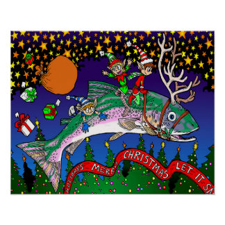 Holiday Salmon Poster