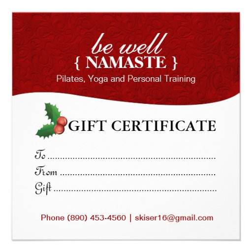Holiday salon and spa gift certificate custom invites zazzle for Zazzle gift certificate
